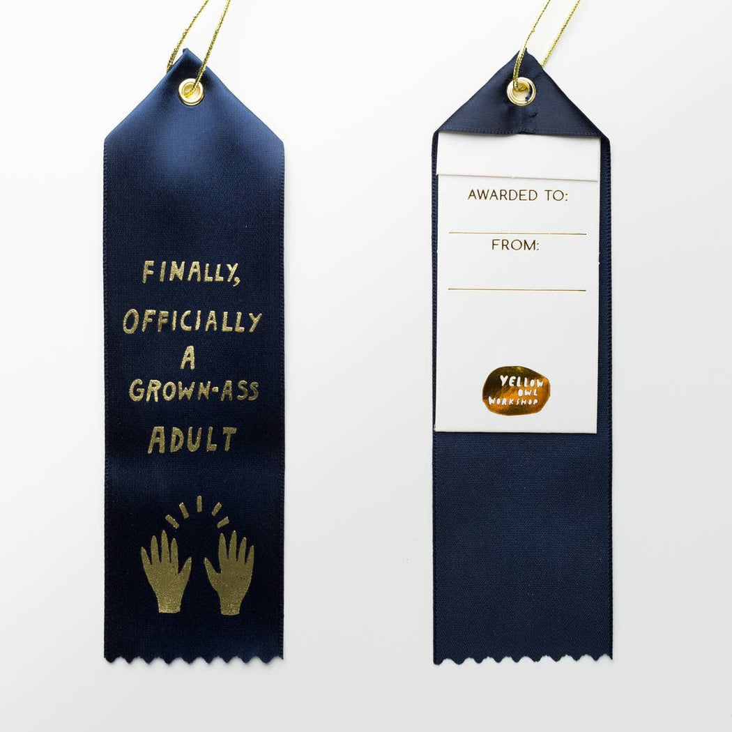 Official Grown Ass Adult Award Ribbon