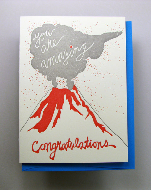 """Volcano Congratulations"" Greeting Card"