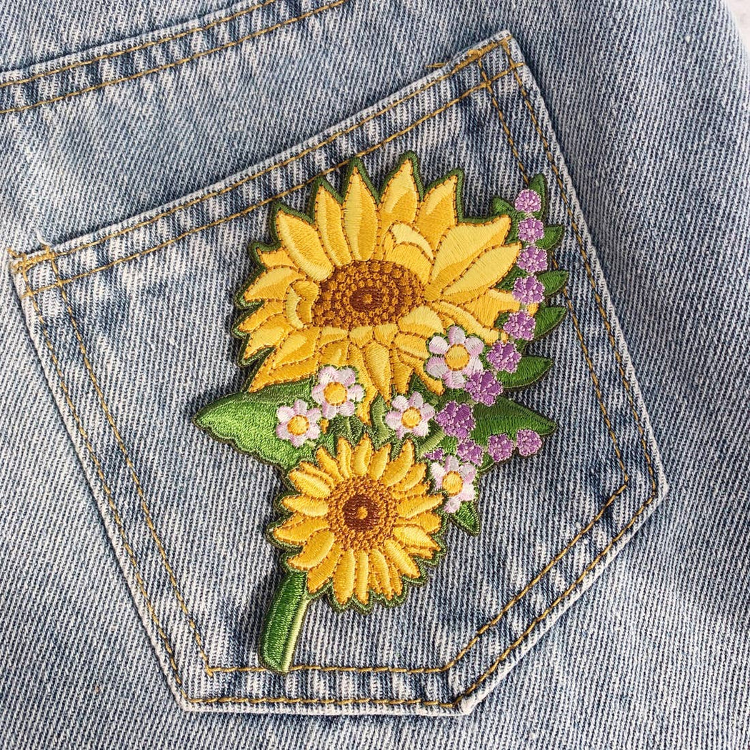 Set of 2 Sunflower Patches