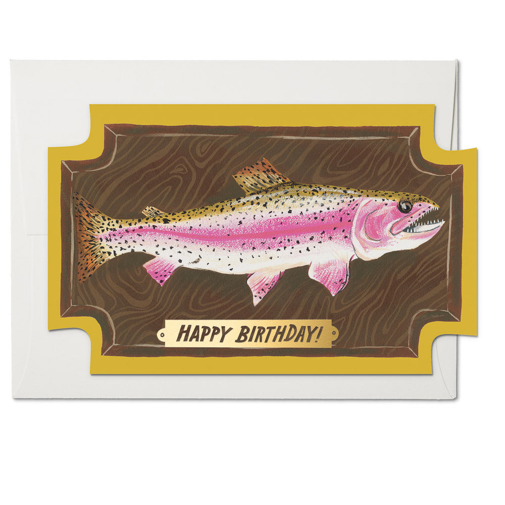 """Mounted Fish"" Greeting Card"