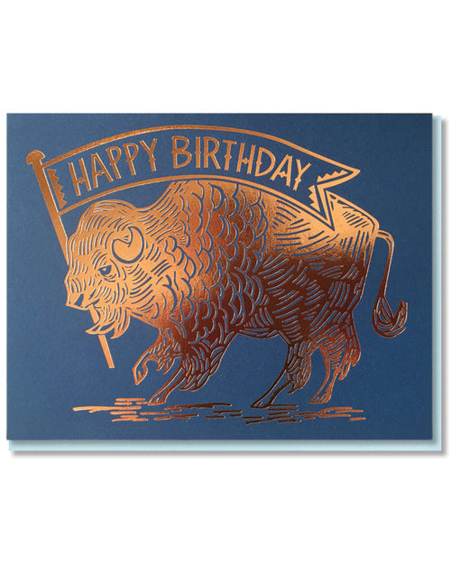 """Birthday Buffalo"" Greeting Card"