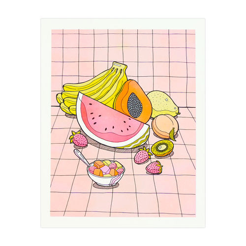 Fresh Fruits Art Print