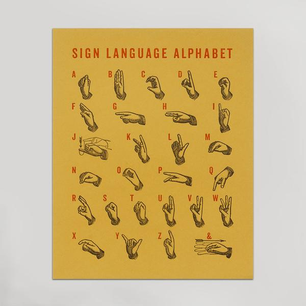 """Sign Language Alphabet"" Print"