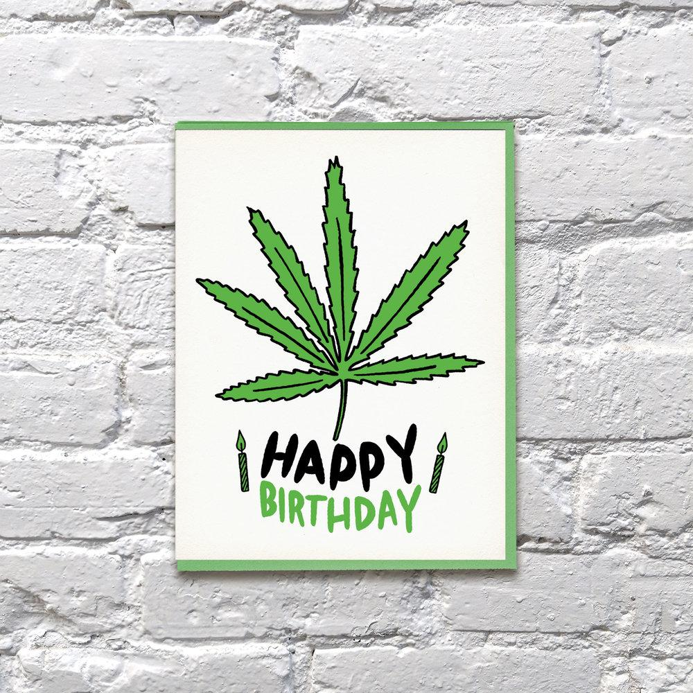 """Weed Day"" Birthday Greeting Card"