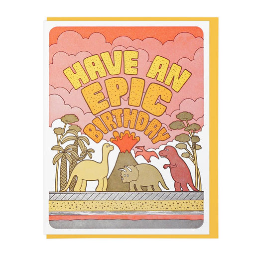 """Epic Birthday Dinos"" Greeting Card"