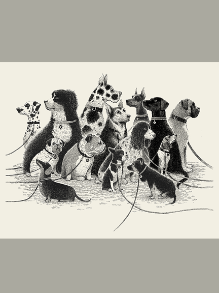 """Dogs Waiting"" Print"