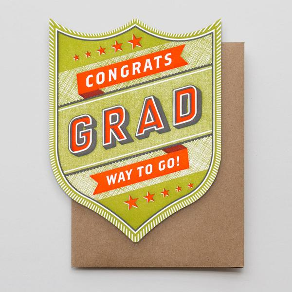 """Congrats Grad Badge"" Greeting Card"