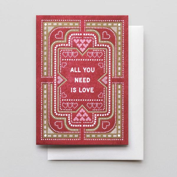 """All You Need Is Love"" Card"