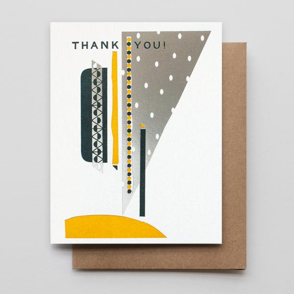 """Thank You Silver Sky"" Greeting Card"