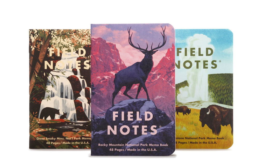 National Park Series - Set of Three 48-Page Memo Books