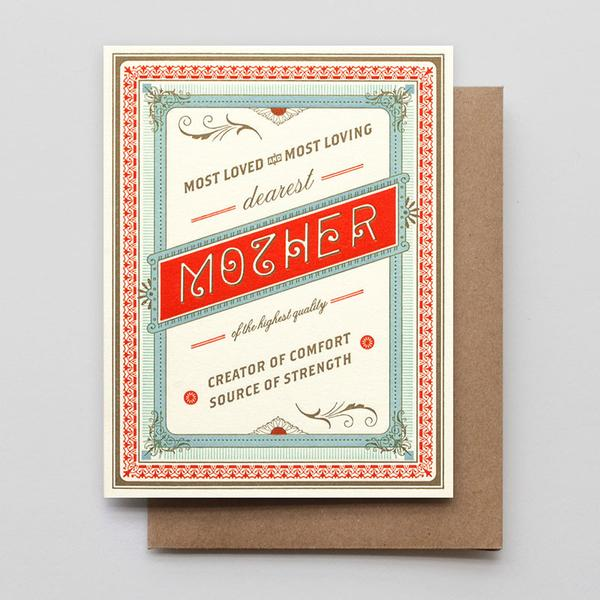 """Highest Quality Mother"" Greeting Card"