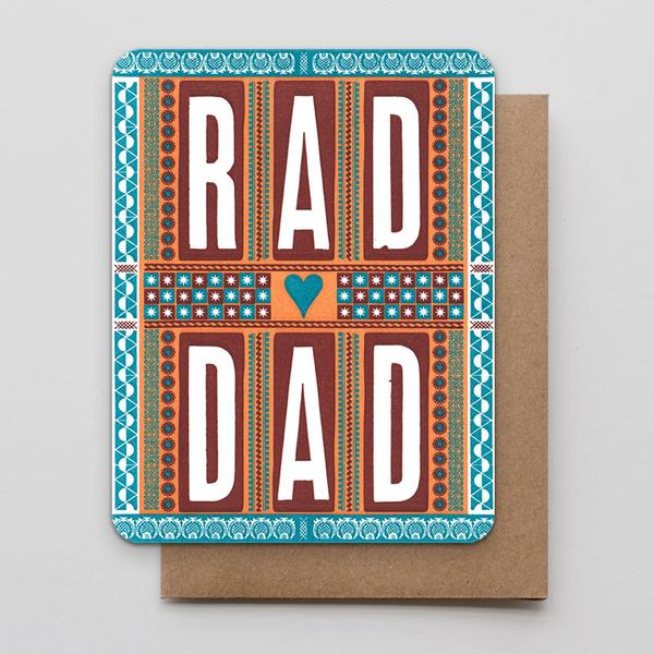 """Rad Dad"" Greeting Card"