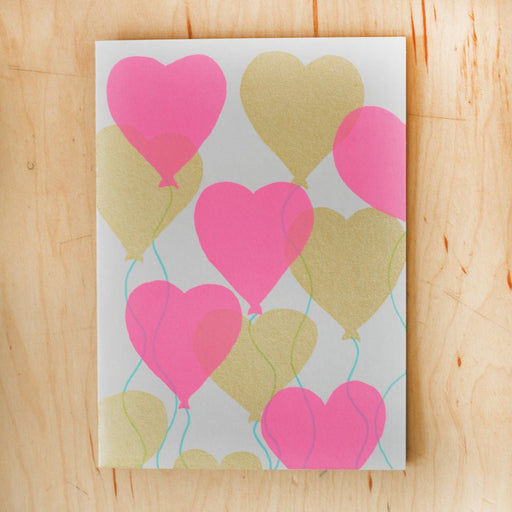 """Heart Balloons"" Greeting Card"