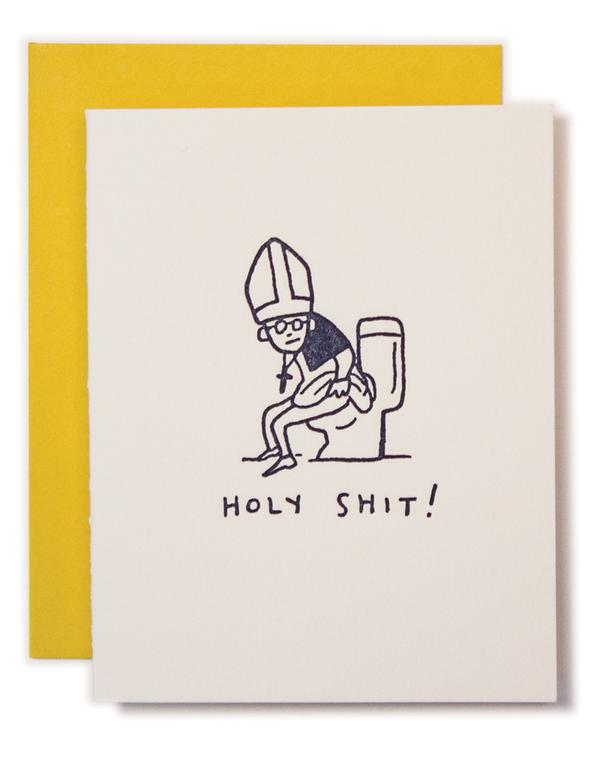 """Holy Shit!"" Greeting Card"