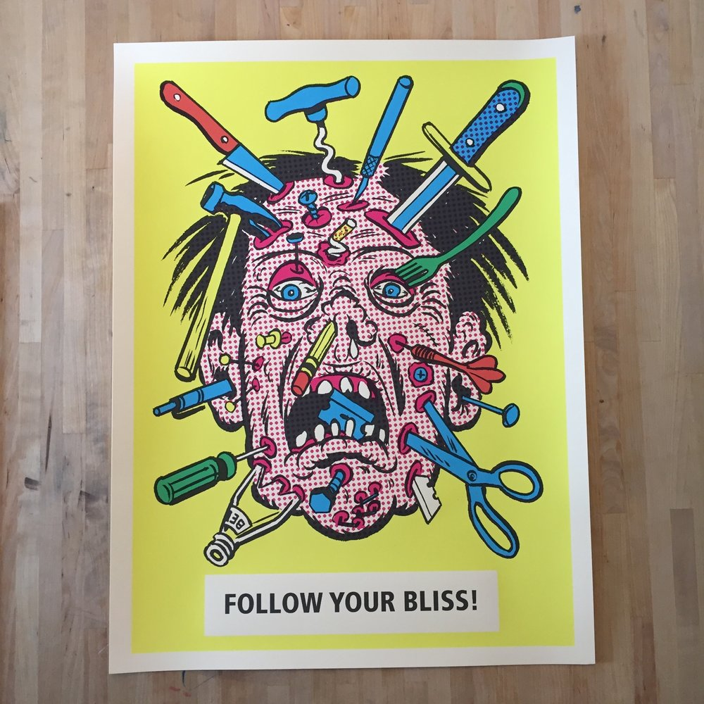 """Follow Your Bliss"" Print"