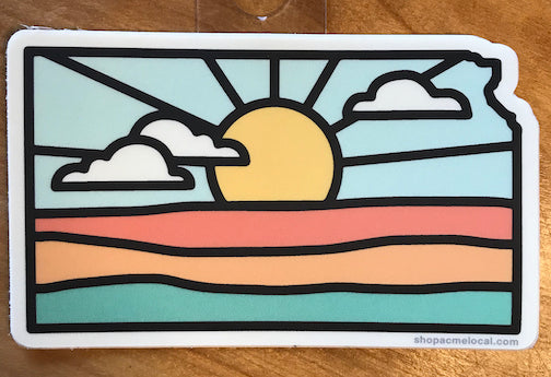 """Kansas Sun"" Sticker"