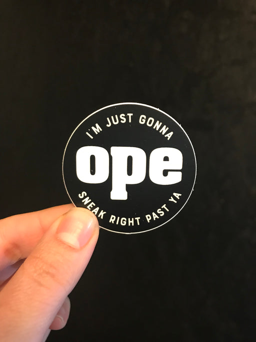 """Ope"" Sticker - Small"