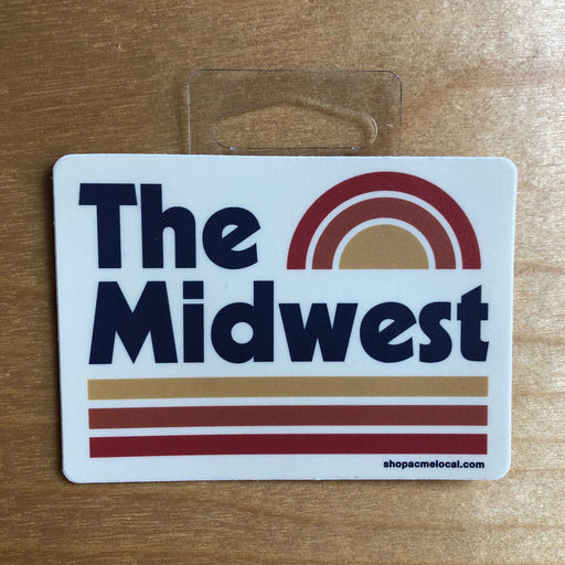 """Midwest Sunset"" Sticker"