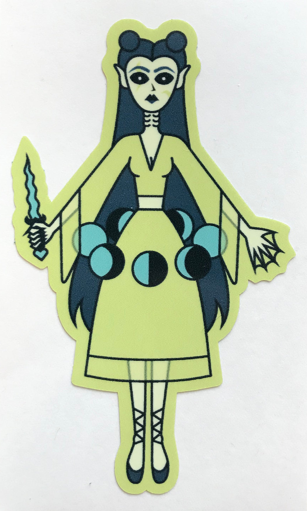 Occult Girl (Green) Sticker