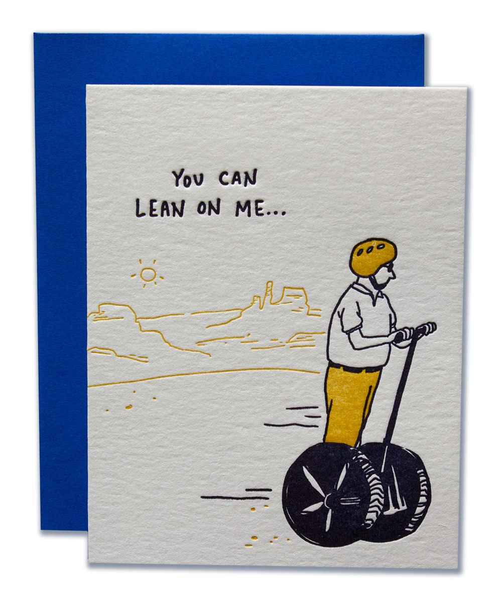 """You Can Lean On Me"" Greeting Card"