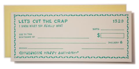 """Birthday Check"" Greeting Card"
