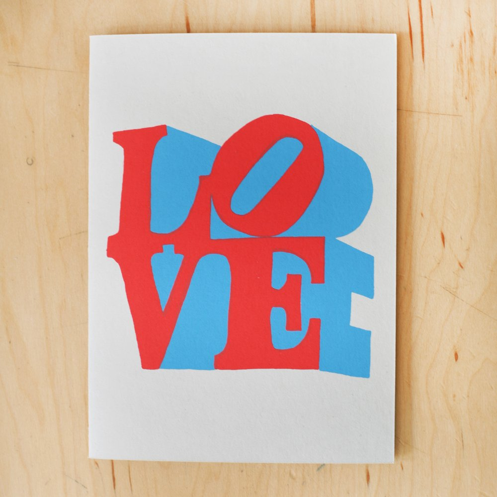"""Love"" Greeting Card"