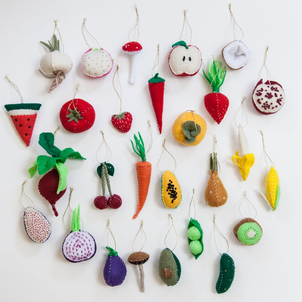 Garlic Felt Ornament