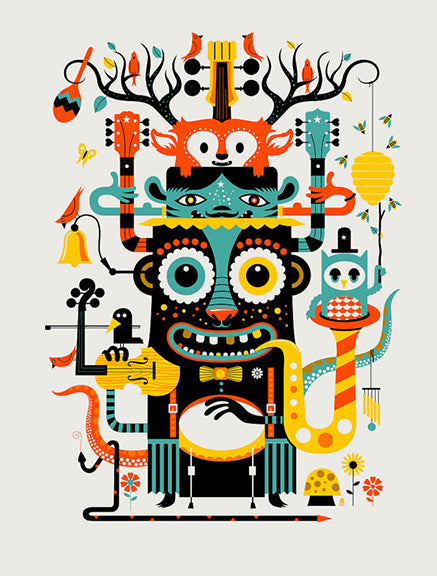 """Music Monster"" Print"