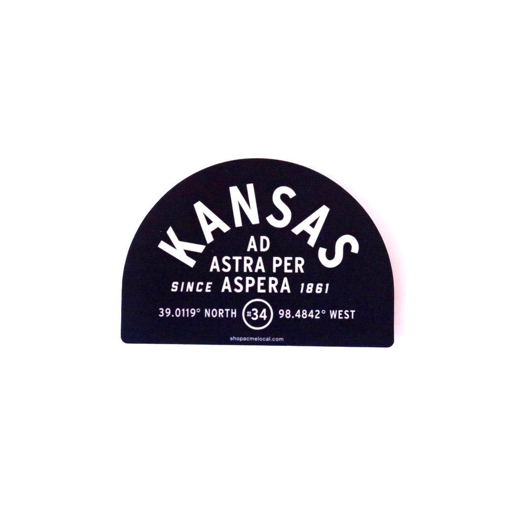 Kansas Half Badge Sticker