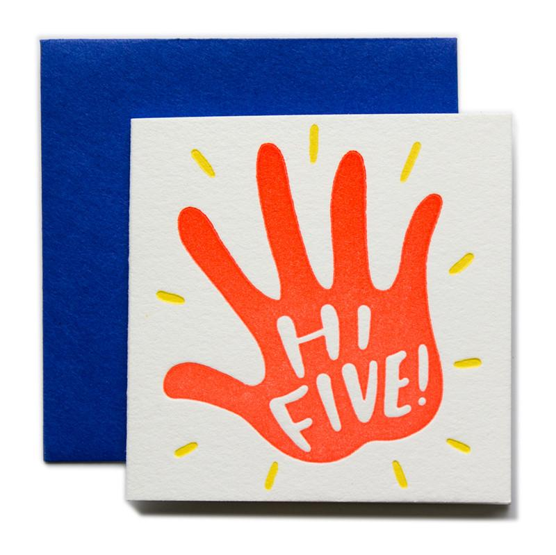 """Hi Five"" Tiny Card"