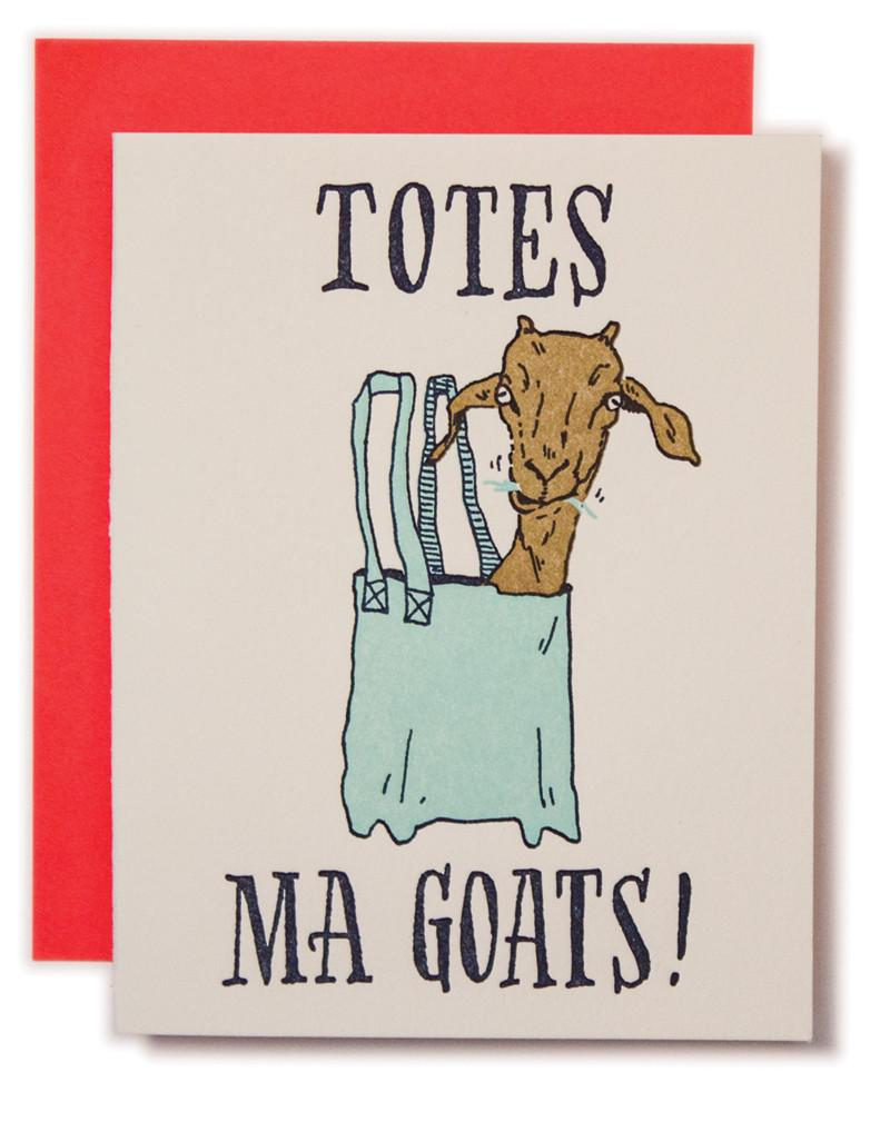 """Totes Ma Goats"" Greeting Card"