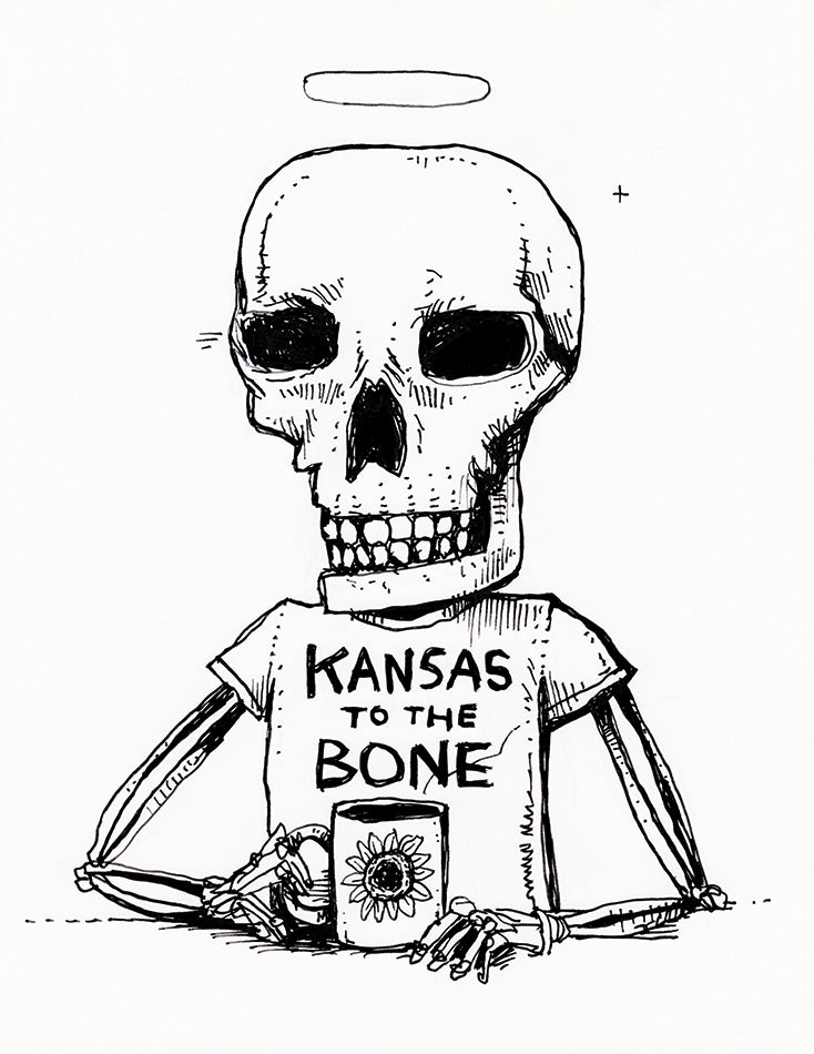 """Kansas to the Bone"" Screen Print"