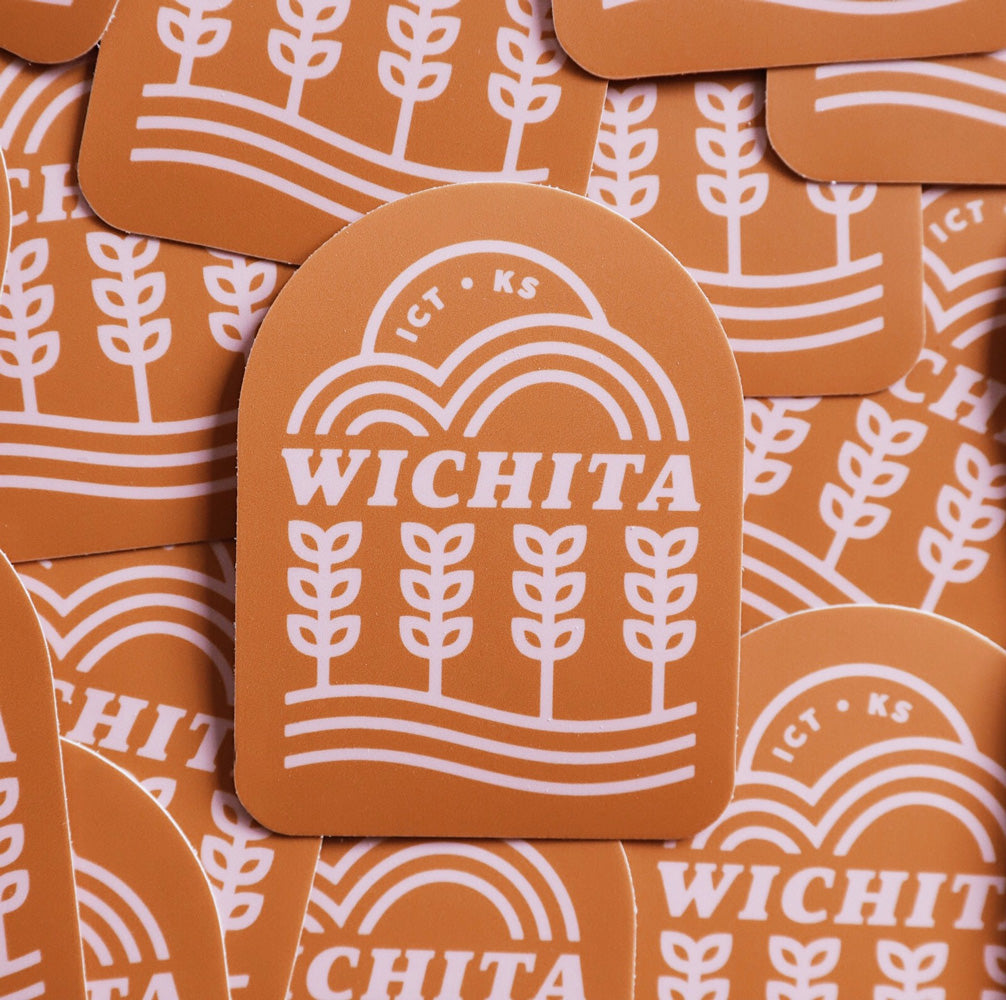 Wichita Vibes Sticker (Tan)