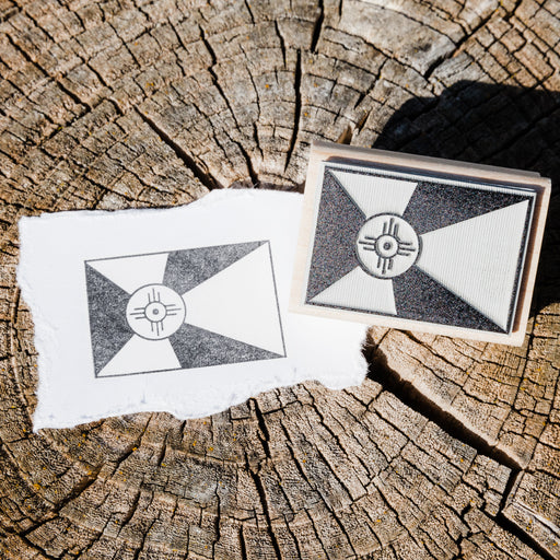 Wichita Flag Rubber Stamp