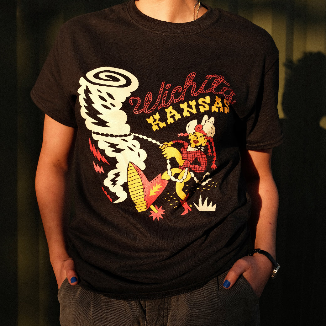 """Tornado Wrangler"" Wichita, Kansas Shirt"