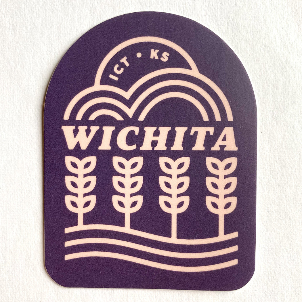 Wichita Vibes Sticker (Purple)