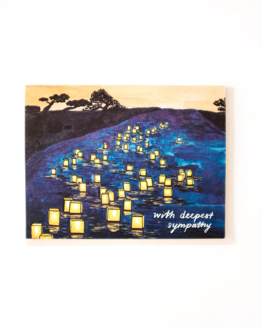 Small Adventure - Japanese Lanterns Sympathy Card