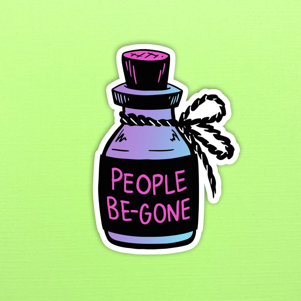 People Be-Gone Sticker