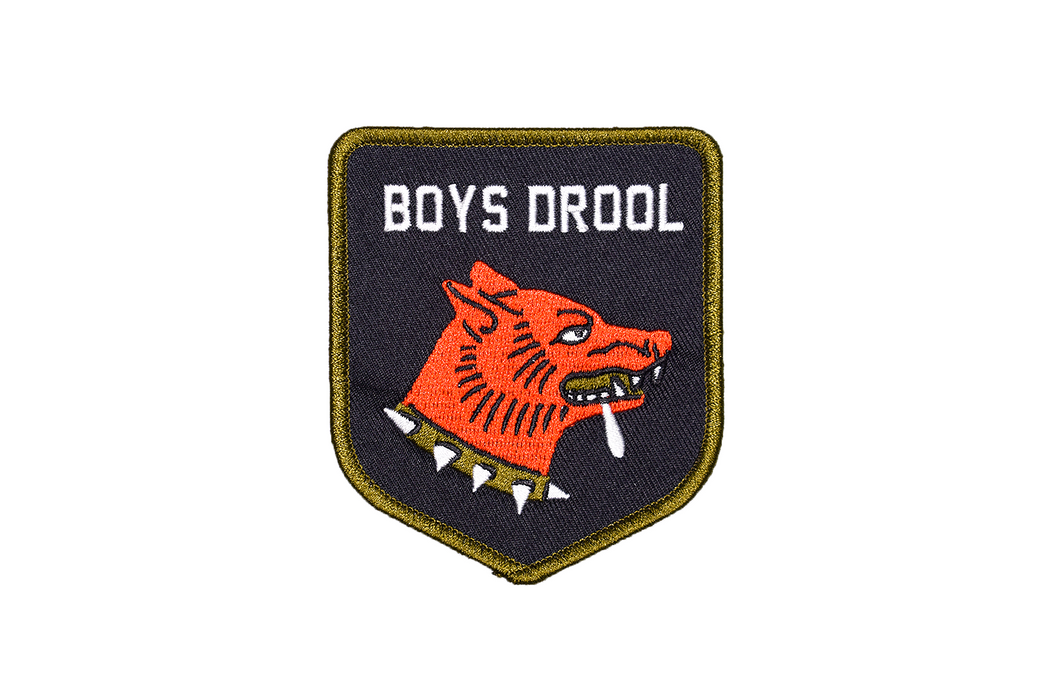 """Boys Drool"" Embroidered Patch"