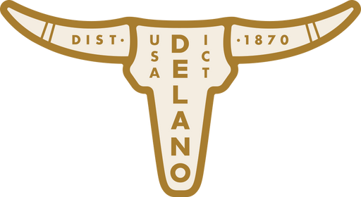 """Delano District"" Sticker"