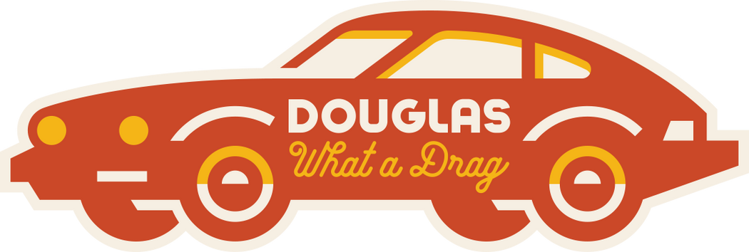 """Douglas Avenue Car"" Sticker"