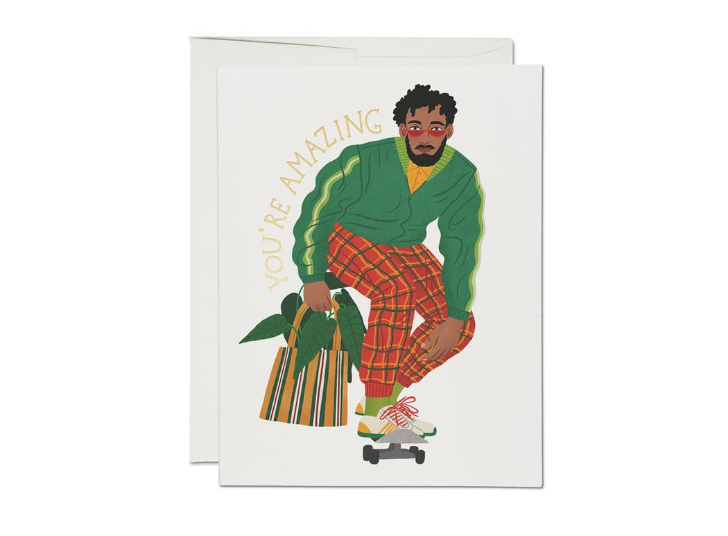 """Amazing Skater"" Greeting Card"