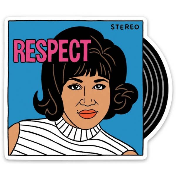 Aretha Respect Die Cut Sticker