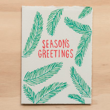 """Holiday Pine"" Greeting Card"