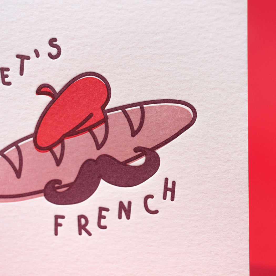 """Let's French"" Greeting Card"