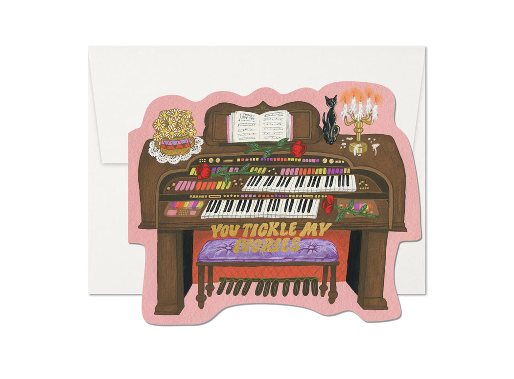 """Tickle My Ivories"" Greeting Card"