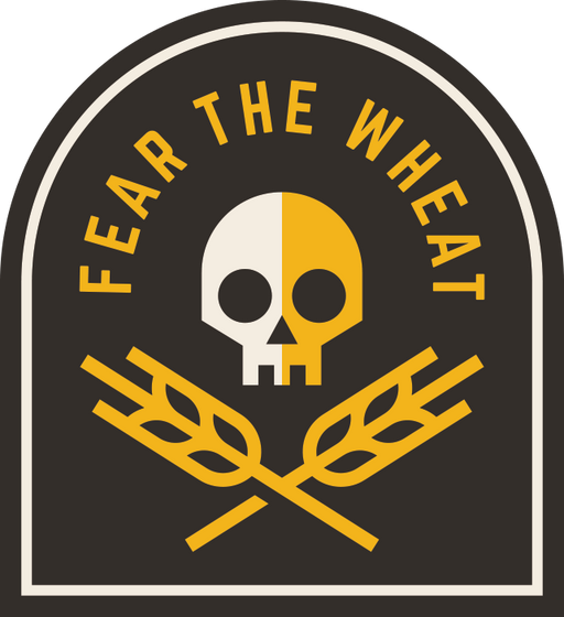 """Fear the Wheat"" Sticker"