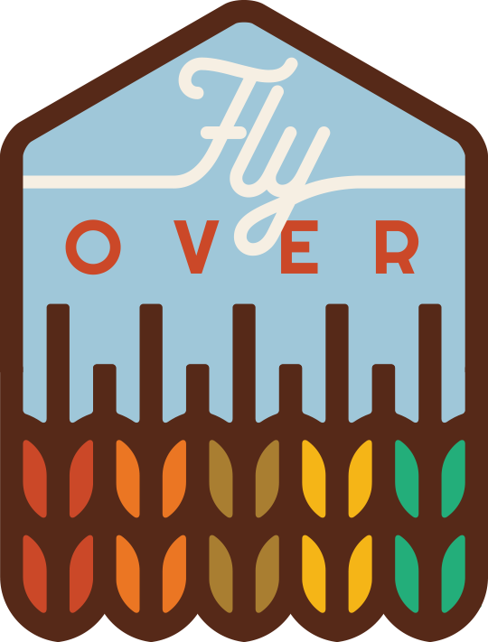 """Fly Over State"" Sticker"