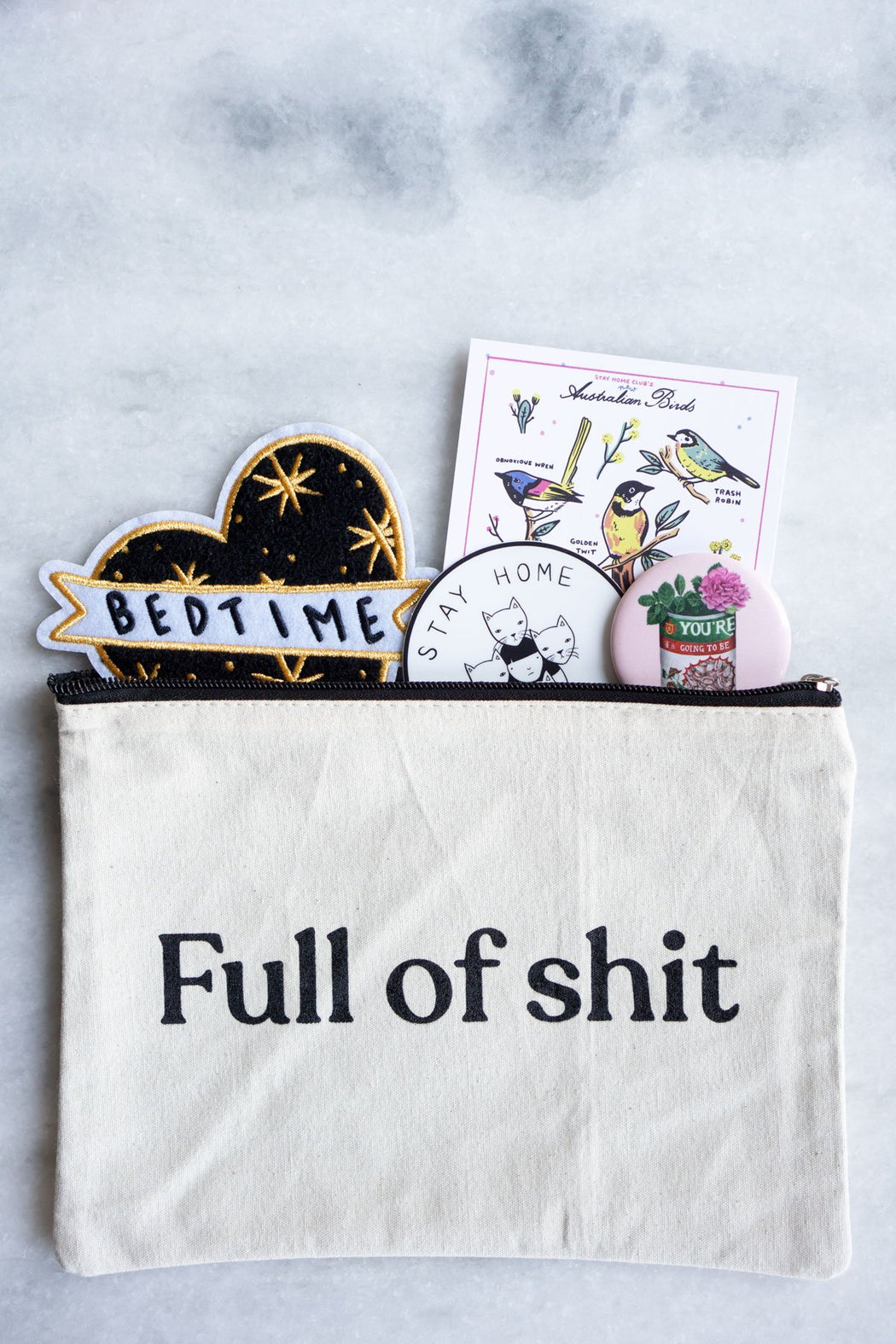 """Full of Shit"" Zipper Pouch"