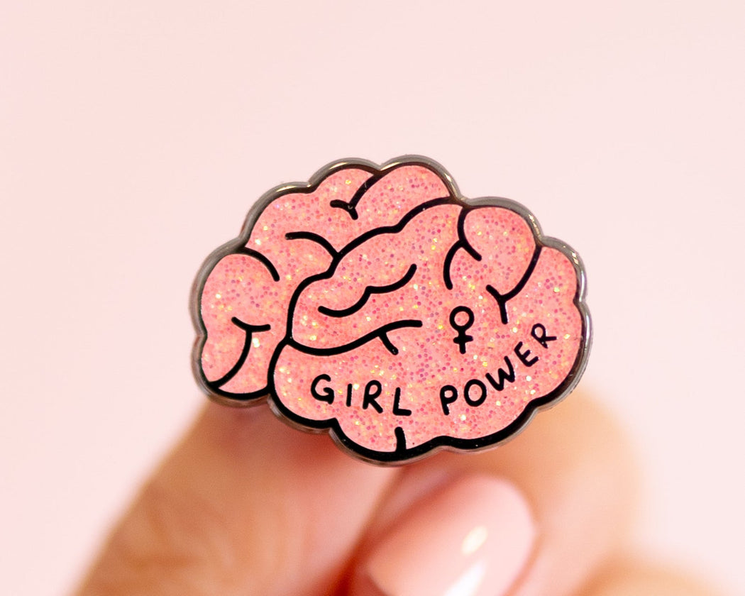 """Girl Power"" Enamel Pin"